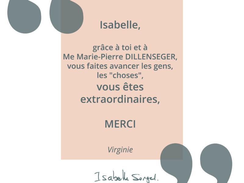 Témoignage au sujet d'Isabelle Sengel et Marie-Pierre Dillenseger